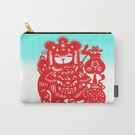 Little Girl With Dragon Rice Paper Art Carry-All Pouch