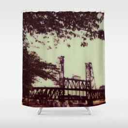 Steel Bridge Shower Curtain