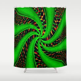 Psychedelic Swirls Shower Curtain