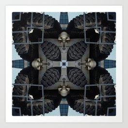 Tire Kaleidoscope Art Print