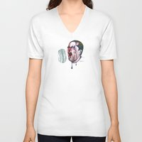 sports V-neck T-shirts featuring SPORTS!  by Katie Acheson Wolford