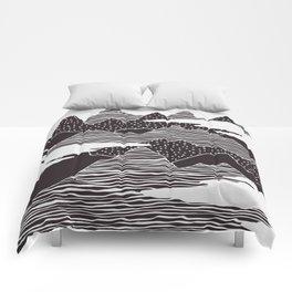 Mountain Peaks Digital Art Comforters