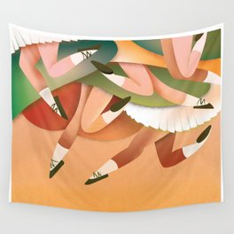 colourfull dance party poster. Wall Tapestry