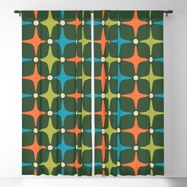 Mid Century Modern Star Pattern 934 Blackout Curtain
