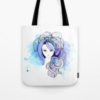 waterfall Tote Bags featuring Waterfall by Sherry Yuan