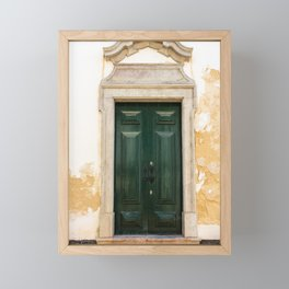 Old door in Tavira, Portugal Framed Mini Art Print