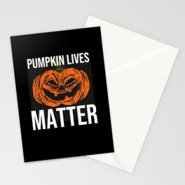 Halloween Gift Pumpin Lives Matter Stationery Cards