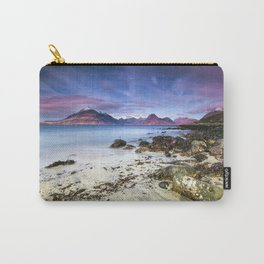 Beach Scene - Mountains, Water, Waves, Rocks - Isle of Skye, UK Carry-All Pouch