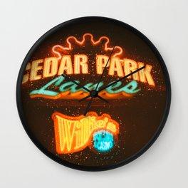 Rainy Cedar Park Wall Clock