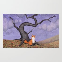 the rainy fox Rug