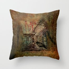 Courting Crow Throw Pillow