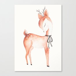 whimsical fawn 2 Canvas Print