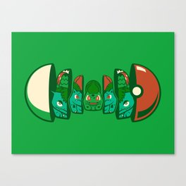 Poketryoshka - Grass Type Canvas Print