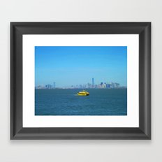 New York Water Taxi Framed Art Print