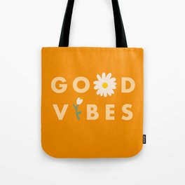 Good Vibes Daisy Tote Bag