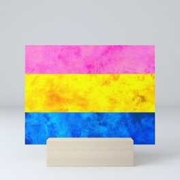Pansexual Pride Flag Mini Art Print