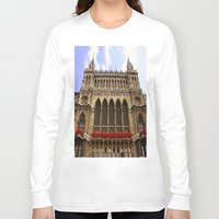 vienna Long Sleeve T-shirts featuring Building in Vienna by Kim Ramage