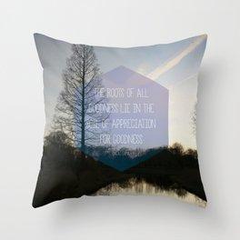 Roots Artprint Throw Pillow
