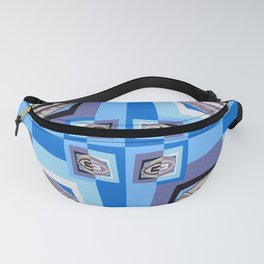 Retro Midcentury Optical Illusion Geometric Color Study Fanny Pack