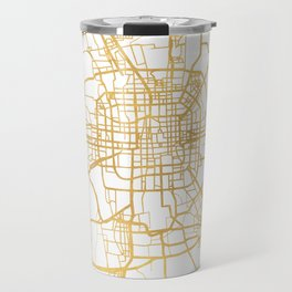 BEIJING CHINA CITY STREET MAP ART Travel Mug