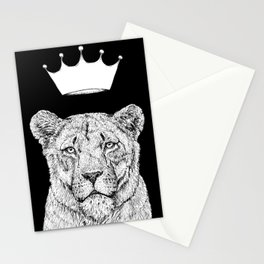 Lion Queen Stationery Cards