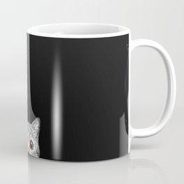 Curious Cat Peeking, Sneaky Kitty, Kitty Photography, Cat, Cats Coffee Mug