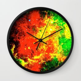Nebular Fire Wall Clock