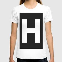 Letter H (White & Black) T-shirt