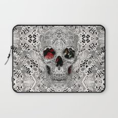 Lace Skull Light Laptop Sleeve