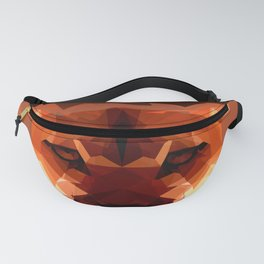 Cougar head, wild animal poly print Fanny Pack