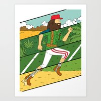 run Art Prints featuring Run by Derek Eads