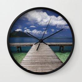 Tahiti Dock Wall Clock