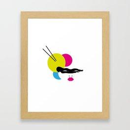 Japanese Line Colors Framed Art Print