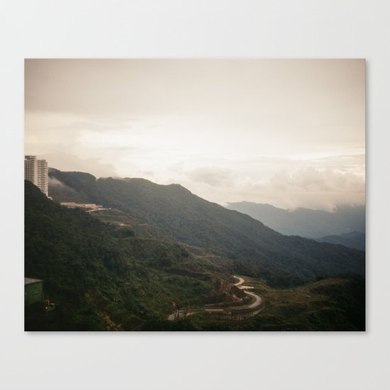 city on a hill Canvas Print