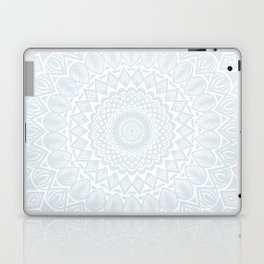 Minimal Minimalistic Light Cool Gray Mandala Laptop & iPad Skin