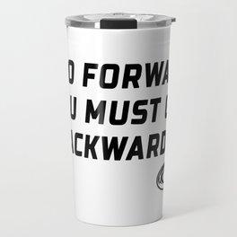 Rugby Go Backwards Quote Travel Mug