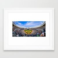 yankees Framed Art Prints featuring New York Yankees - Color by Bust it Away Photography
