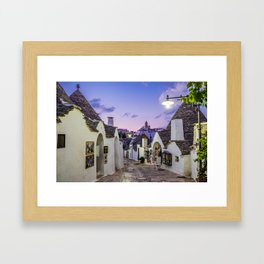 Alley between the Trulli of Alberobello Framed Art Print
