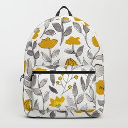 Organic watercolor botanicals 2 Backpack
