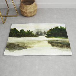 Silence, landscape painting Rug