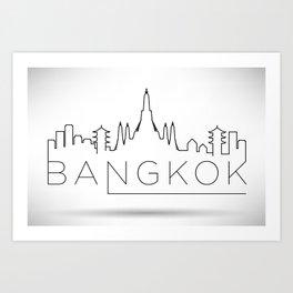 Minimal Bangkok Skyline Design Art Print