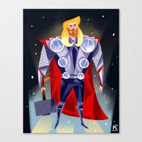 thor Canvas Prints featuring Thor by ArtsyPabster