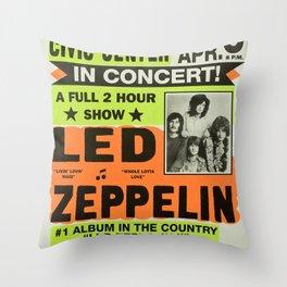 ZEPPELIN CONCERT VINTAGE POSTER Throw Pillow