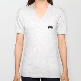 Pork ribs food tee Unisex V-Neck