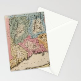 Vintage Map of Connecticut (1823) Stationery Cards
