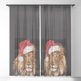 Christmas King Lion Sheer Curtain