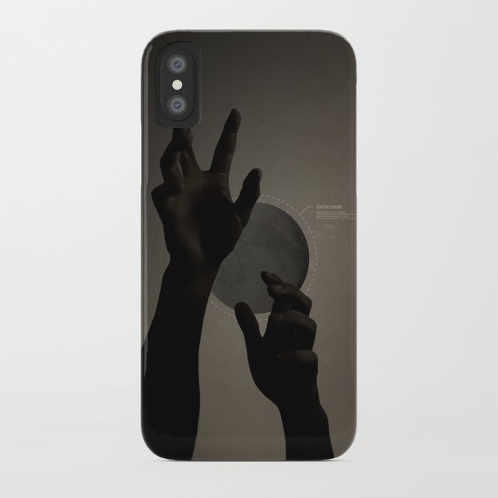 Hand's on the Moon iPhone Case