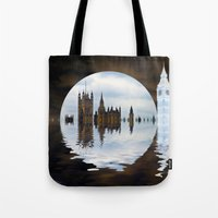 politics Tote Bags featuring Manipulated Politics by Shalisa Photography
