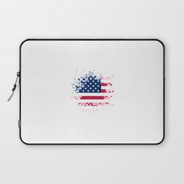 Grunge style american flag background Laptop Sleeve