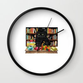 That What I Do I Read Books I Quilt And I Know Things Wall Clock